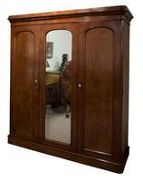 19th Century  Mahogany 3 Door Wardrobe