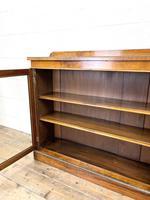19th Century Glazed Walnut Bookcase (9 of 14)