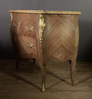 Superb Bleached Walnut Bombe Commode (4 of 9)
