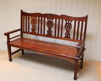 Edwardian Style Mahogany Bench (7 of 11)