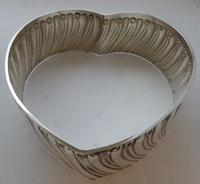 Large 1909 Hallmarked Silver Love Heart Pin Cushion Ring Earring Jewellery Box (9 of 10)