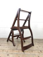 Mahogany Metamorphic Library Chair Steps (10 of 10)