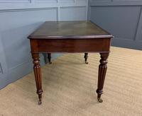 Victorian Mahogany 2 Drawer Reeded Leg Writing Table (8 of 15)