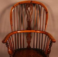 Good Yew Wood High Back Windsor Chair Rockley Maker (6 of 11)