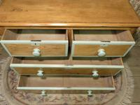 Victorian Stripped Pine Chest of Drawers Sage Painted Trim (3 of 8)