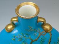 Minton Porcelain Moon Flask William Mussill 1875 Bleu Celeste (3 of 10)