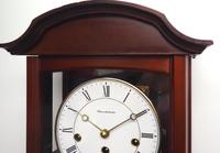 Perfect Vintage Musical Dual Chime Westminster Chiming Wall Clock 8-day Mahogany Case (7 of 12)