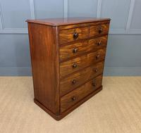 Victorian Tall Mahogany Chest of Drawers (6 of 12)