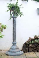 Middle Eastern patinated brass jardinière pedestal stand
