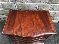Antique Mahogany Serpentine Chest of Drawers (2 of 9)