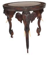 Carved Burmese Table Elephant Legs Antique Burma Furniture (5 of 10)