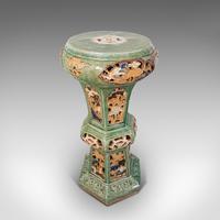 Antique Plant Stand, English, Ceramic, Decorative, Hall, Jardiniere, Victorian (4 of 12)