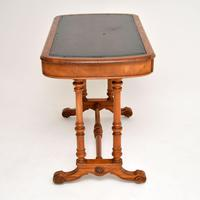 Antique Victorian Satinwood Writing Table by Heal & Son (4 of 15)