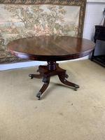 English 19th Century Mahogany Tilt Top Centre Table (2 of 8)