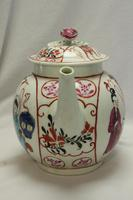 First Period Worcester Hand Painted Teapot (2 of 8)