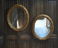 Pair of Gilt French Oval Mirrors (3 of 7)
