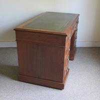 Oak Pedestal Desk - Edwardian (6 of 8)