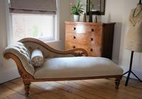 Edwardian Mahogany Framed Chaise Longue with Button Back Upholstery (2 of 12)