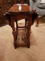 Superb Antique Burr Walnut Drop Leaf Coffee Table (4 of 6)
