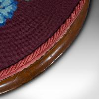 Pair of Antique Footstools, English, Walnut, Needlepoint, Rest, Victorian c.1860 (11 of 12)