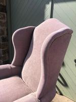 Pair of Antique English Upholstered Wing Armchairs (2 of 10)