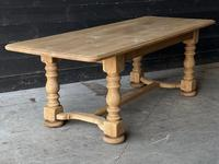 French Bleached Oak Refectory Farmhouse Dining Table (25 of 26)