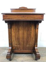 Late Victorian Inlaid Rosewood Davenport Desk (8 of 17)