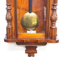 Fine Antique German Twin Walnut 8-Day Mantel Clock Vienna Striking Wall Clock (11 of 35)