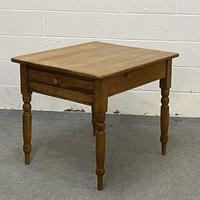 Small old english pine breakfast table