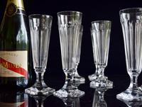 8 Val 8 Saint Lambert Champagne Flutes hexagonal foot (2 of 5)