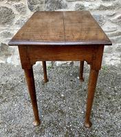 18th Century Georgian Oak Pad Foot Side Table (4 of 15)