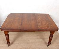 Oak Dining Table 6 Seater Victorian Wild Golden Oak 19th Century Solid (2 of 16)