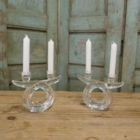 Pair of Art Deco Twin Crystal Candlesticks (4 of 5)