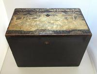 Rare Antique Chinese Lacquered Giltwood Large Tea Caddy Chest / Box / Casket with Pewter Liner c.1800 (9 of 16)