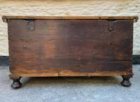 Large 19thc Swedish Country House Robust Painted Pine Storage Coffer Chest (17 of 18)