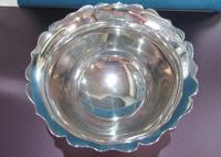 Sterling Silver Sugar Bowl with Blue Liner (3 of 4)