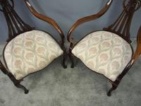 Art Nouveau Style Inlaid Mahogany Elbow Chairs (7 of 11)