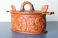 Scandinavian / Norwegian 'Folk Art' Baroque / Acanthus Carved Tine Box c.1910 (11 of 39)