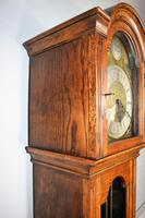 Light Honey Coloured Oak Glass Fronted Grandfather or Grandmother with British  8 Day Triple Weight Quarter Chiming Westminster Musical Longcase (4 of 9)