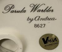 A Porcelain figure of a Paula Warbler by Andrea by Sadek. (2 of 6)