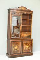 Edwardian Inlaid Rosewood Bookcase (2 of 12)