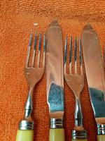 Antique Silver Plate EPNS Forks, Fish Knives c.1920 (2 of 8)