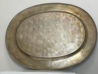 Large Danish Sporting Victorian 19th Century Danish Silver Plate Salver (6 of 31)