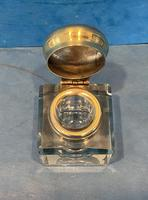 Victorian Cut Glass Inkwell with a Brass Top (2 of 10)
