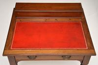 Antique Victorian Mahogany Leather Top Desk / Writing Table (12 of 13)