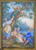 Beautiful Miniature Painting after Boucher 'Birding' (4 of 6)