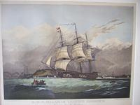 Engraving of HMS Malabar Leaving Harbour by G Garnier, After N Condy Jnr (2 of 5)