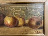 L.H Cooper Signed Fruit Oil Painting (4 of 6)
