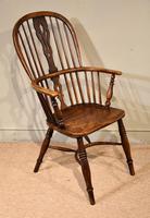 Mid 19th Century Ash & Elm High Back Windsor Armchair (2 of 7)