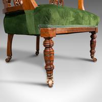 Antique Tub Chair, English, Velvet, Mahogany, Elbow, Seat, Edwardian c.1910 (12 of 12)